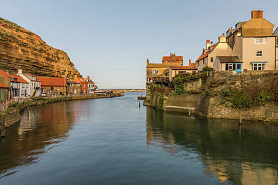Photograph - Staithes harbour, Yorkshire by David Ross