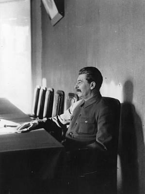 Stalin Art Print by James Abbe