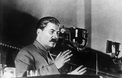 Photograph - Stalin Speaks by Hulton Archive