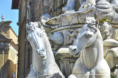 Photograph - Stallions Of The Sea In Florence by JAMART Photography