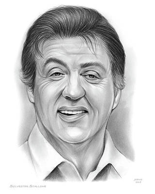 Drawing - Stallone 16sep18 by Greg Joens