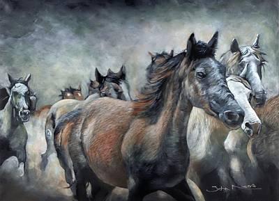 Painting - Stampede by John Neeve