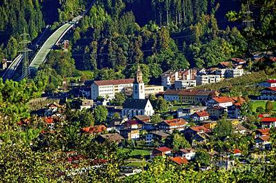 Photograph - Stams Lovely Small Town In Austrian Tyrol by Elzbieta Fazel