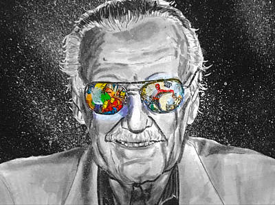 Painting - Stan Lee by Joel Tesch
