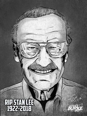 Digital Art - Stan Lee by Joseph Burke