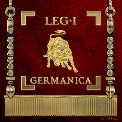 Photograph - Standard Of The 1st Germanic Legion - Vexilloid Of Legio I Germanica by Serge Averbukh