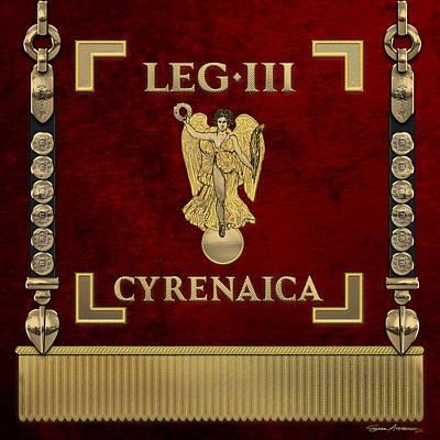 Digital Art - Standard Of Cyrenean Third Legion - Vexilloid Of Legio IIi Cyrenaica by Serge Averbukh