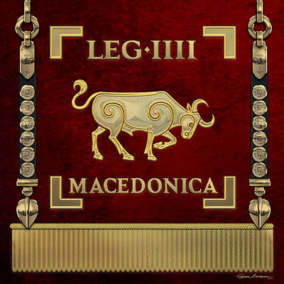 Digital Art - Standard Of The Macedonian Fourth Legion - Vexilloid Of Legio Iv Macedonica by Serge Averbukh