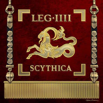 Digital Art - Standard Of The Scythian Fourth Legion - Vexilloid Of Legio Iv Scythica by Serge Averbukh
