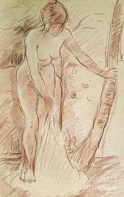 Drawing - Standing Bather, 1888 by Berthe Morisot