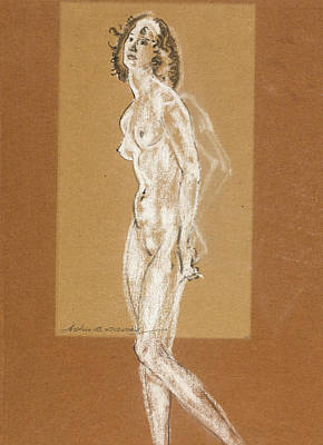 Drawing - Standing Female Nude by Arthur Bowen Davies