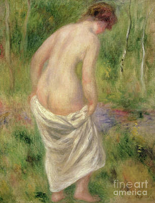 Painting - Standing Nude In A Landscape, 1914 by Pierre Auguste Renoir