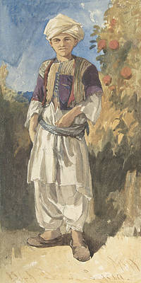 Drawing - Standing Turkish Youth by William James Muller