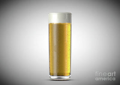 Beer Royalty-Free and Rights-Managed Images - Stange Beer Pint by Allan Swart