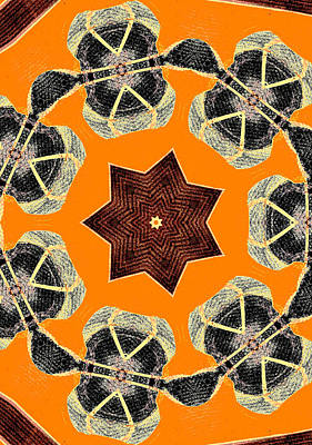 Digital Art - Star Abstract Pattern 1 by Artist Dot