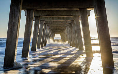 Photograph - Star Burst Under The Pier by Framing Places