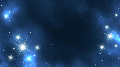 Blue Background Photograph - Star Frame In Space by Cemagraphics