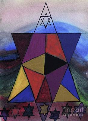 Painting - Star Of David Magen David by Hebrewletters Sl