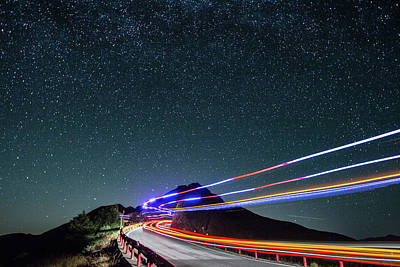 Photograph - Star With Car Trail by Higrace Photo