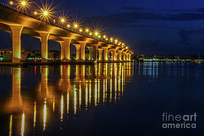 Starburst Bridge Reflection Art Print