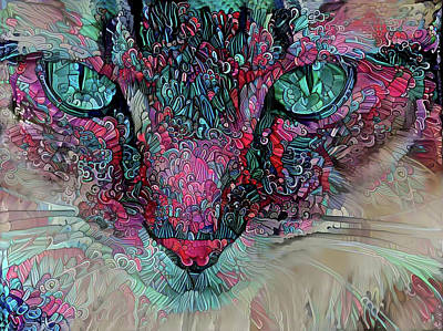 Digital Art - Staring Contest by Peggy Collins