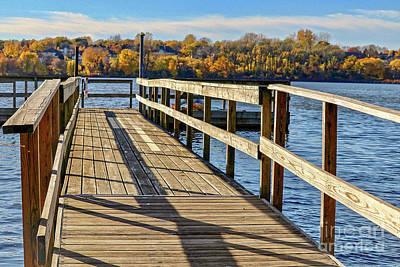 Photograph - Staring Lake Dock by Susan Rydberg