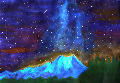 Painting - Starlight Night by Irina Dobrotsvet