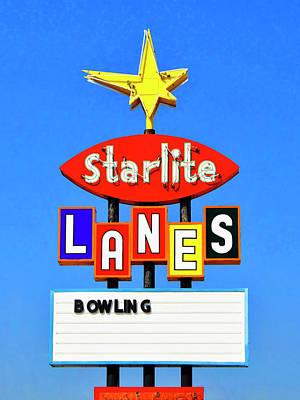 Photograph - Starlite Lanes by Dominic Piperata