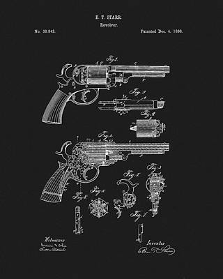 Drawing - Starr Revolver by Dan Sproul