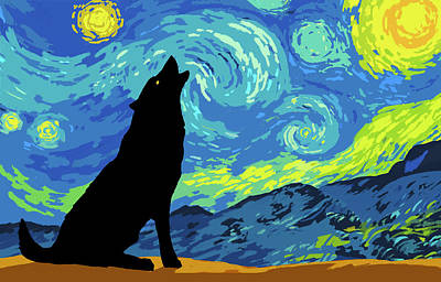 Digital Art - Starry Night by Cliff Wassmann