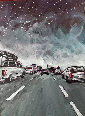 Painting - Starry Night Traffic by Tilly Strauss