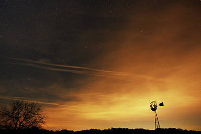 Photograph - Starry Sky and A Windmill by Alicia R Paparo