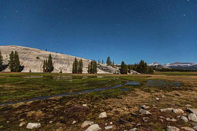 Photograph - Stars Above A Tioga Pass Medow by Al Hann