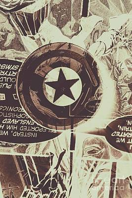 Comics Photos - Stars and shields by Jorgo Photography - Wall Art Gallery