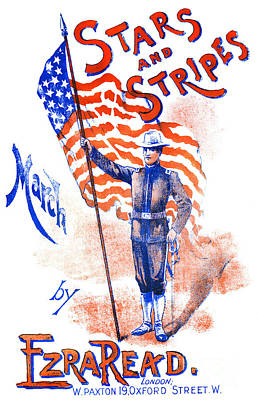 Painting - Stars And Stripes March By Ezra Read by American School