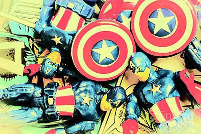 Comics Photos - Stars of freedom fighters by Jorgo Photography - Wall Art Gallery