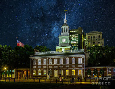 Photograph - Stars Over Independence Hall by Nick Zelinsky
