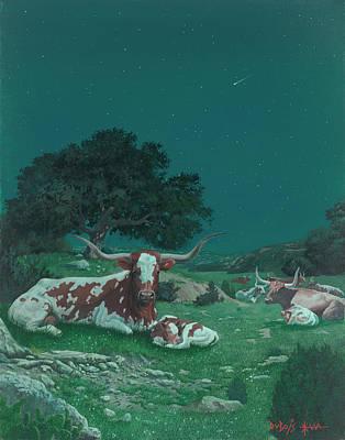 Stars Over Texas Art Print