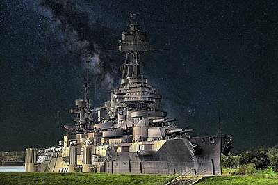 Photograph - Stars Over The Uss Texas by JC Findley