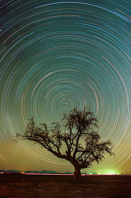 Photograph - Startrails With Film by Adhemar Duro