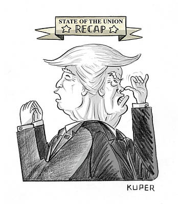 Drawing - State Of The Union Recap by Peter Kuper