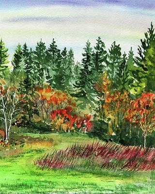 Painting - State Of Washington Fall  by Irina Sztukowski