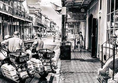 Photograph - State Police On Bourbon Street New Orleans by John Rizzuto