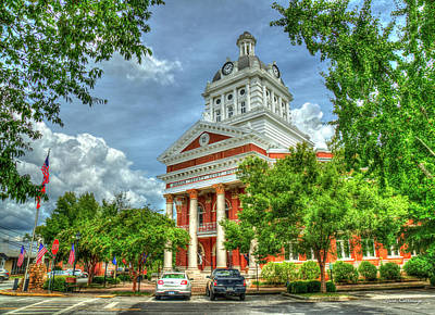 Photograph - Stately Elegance Morgan County Court House Madison Georgia Art by Reid Callaway
