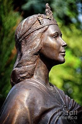 Photograph - Statue Of Doubravka Of Bohemia Fragment by Elzbieta Fazel