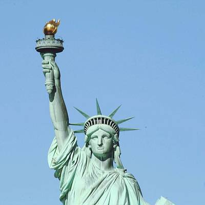 Statue Of Liberty Against Clear Sky Art Print by Valentina Bielli / Eyeem