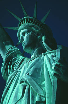 Photograph - Statue Of Liberty by Alfred Gescheidt