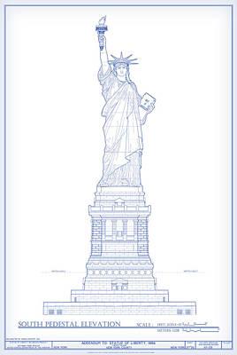 Digital Art - Statue Of Liberty by Gary Grayson