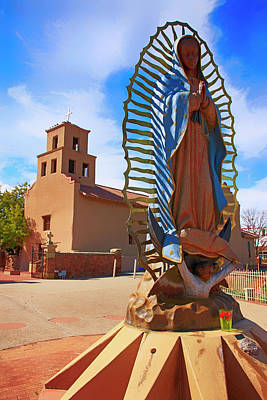 Photograph - statue of Nuestra Senora de Guadalupe by Chris Smith