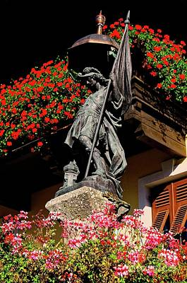 Photograph - Statue Of Saint Florian In Zirl Tirol Austria by Elzbieta Fazel